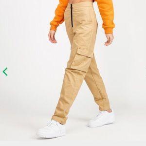 Daisy Street Womens Straight Leg Cargo Pant